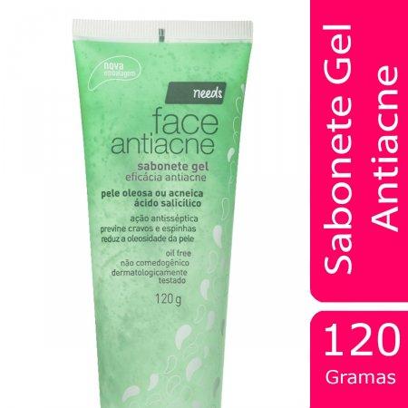 Sabonete Gel Antiacne Needs Facial Pele Oleosa ou Acneica com 120g