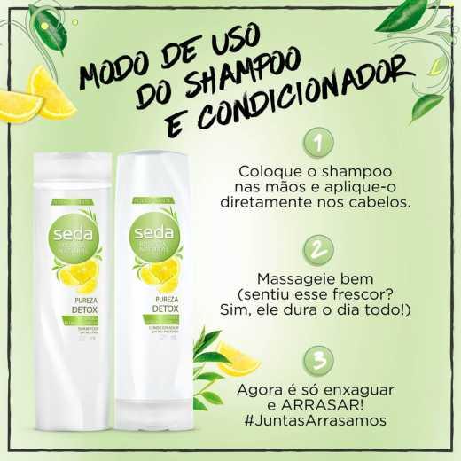 Shampoo Seda Recarga Natural Pureza Refrescante 325mL | Onofre