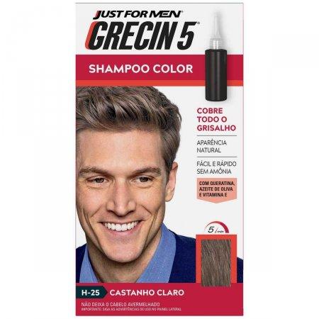 Shampoo Color Grecin 5 Just For Men Castanho Claro