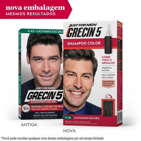 Shampoo Color Grecin 5 Tonalizante Masculino Castanho Escuro com 1 unidade