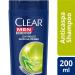 Shampoo Anticaspa Clear Men Controle e Alívio da Coceira 200ml | Onofre.com Foto 2