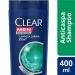 Shampoo Anticaspa CLEAR Men Limpeza Diária 2 em 1 400ml | Onofre.com Foto 2