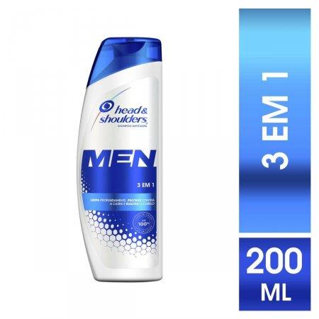 Shampoo de Cuidados com a Raiz Head & Shoulders Men 3 em 1 com 200ml