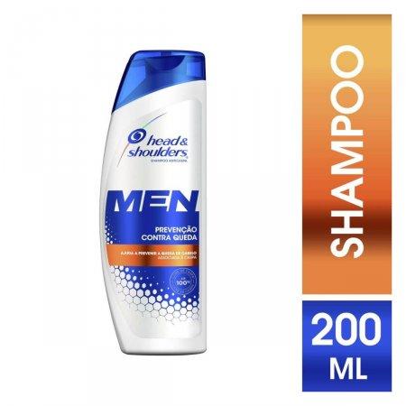 Shampoo de Cuidados com a Raiz Head & Shoulders Men Prevenção Contra Queda com 200ml