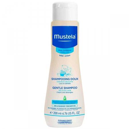 Shampoo Infantil Cabelo Fino e Delicado Mustela Bebê Suave com 200ml