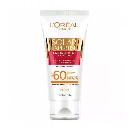 Protetor Solar Facial L'oreal Expertise Antirrugas FPS60 50g