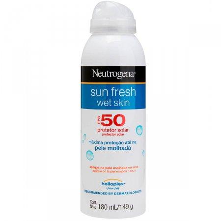Protetor Solar Aerosol Neutrogena Sun Fresh Wet Skin FPS50 180ml