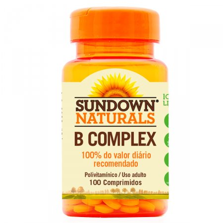 B Complex Com 100 Comprimidos - Sundown Vitaminas