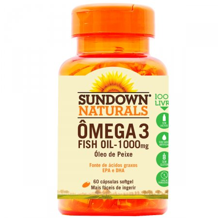 Fish Oil Sundown 1000mg 60 Cápsulas