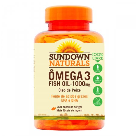 Sundown Fish Oil 1000mg 320 Cápsulas