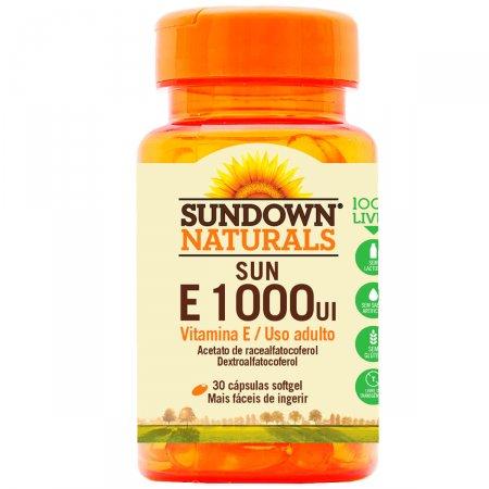 Sun E 1000UI com 30 Cápsulas - Sundown Vitaminas