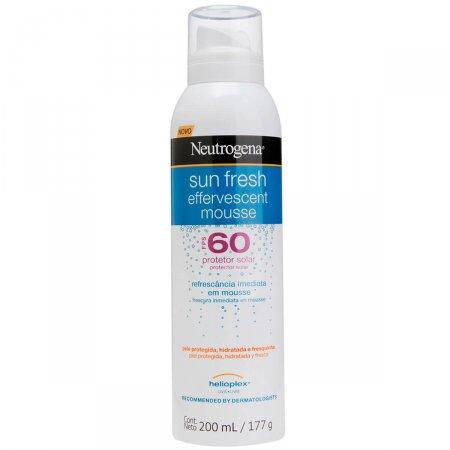 Protetor Solar Neutrogena Sun Fresh Mousse Efervescente FPS60 200ml