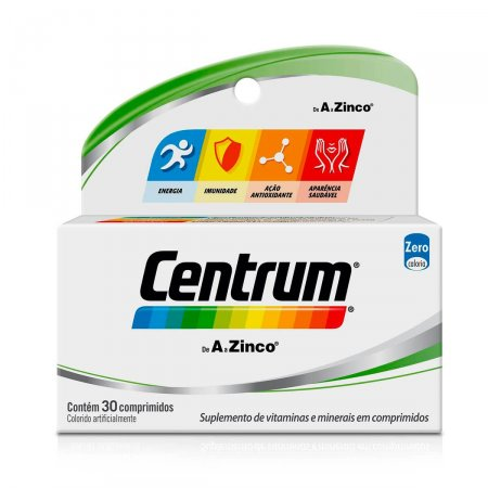 Suplemento Vitamínico-Mineral Centrum de A a Zinco com 30 Comprimidos
