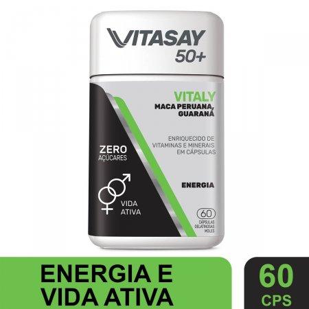 Suplemento Alimentar Vitasay 50+ Vitaly 60 Cápsula | Drogaraia.com Foto 2