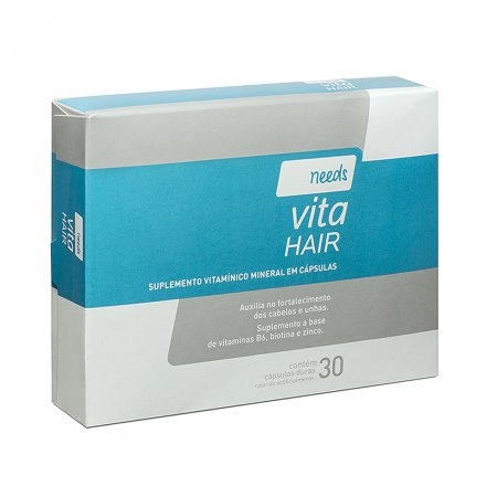 Suplemento Vitamínico Needs Vita Hair Cabelos e Unhas com 30 cápsulas