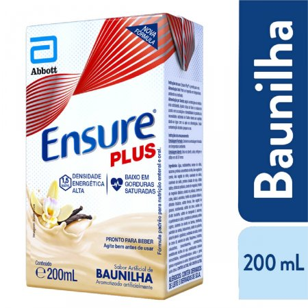 Suplemento Alimentar Ensure Plus Baunilha 200mL