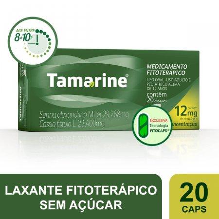 Tamarine 12mg com 20 cápsulas