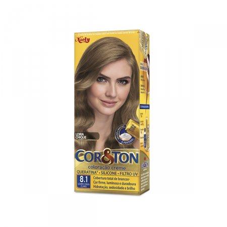Tintura Cor&Ton Niely 8.1 Louro Cinza Claro