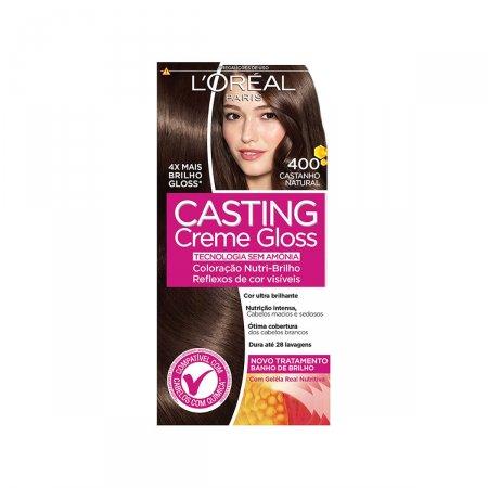 Tintura Semi-Permanente Casting Creme Gloss 400 Castanho Natural