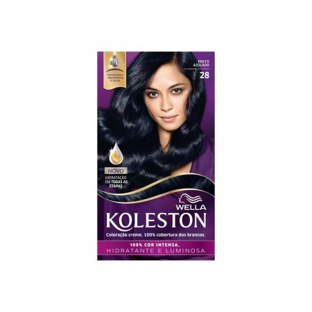 Coloração Creme Koleston Preto Azulado 28