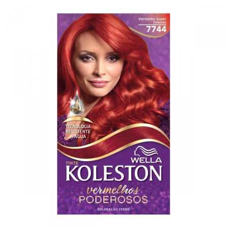 Coloração Creme Koleston Vermelho Super Intenso 7744