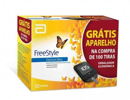 Tiras para Teste de Glicemia FreeStyle Optium + Monitor