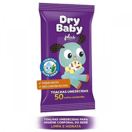 Toalhas Umedecidas Dry Baby Plus com 50 Unidades