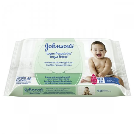 Toalhinhas Umedecidas Johnson's Baby Toque Fresquinho 48 Unidades