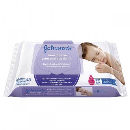 Toalhinhas Umedecidas Johnson's Baby Hora do Sono 48 Unidades