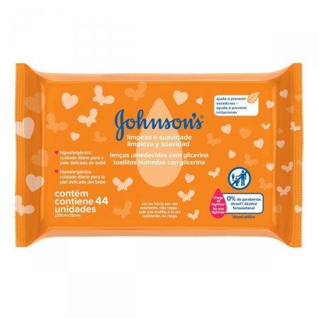 Lenço Umedecido Johnson's Limpeza e Suavidade