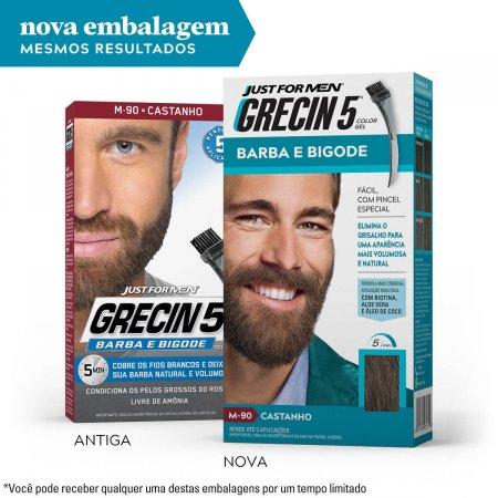 Tonalizante Grecin 5 Just For Men Color Gel Barba e Bigode Castanho com 1 Unidade