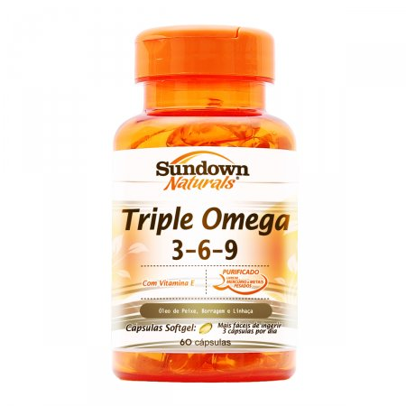 Triple Omega 60 Cápsulas - Sundown Vitaminas