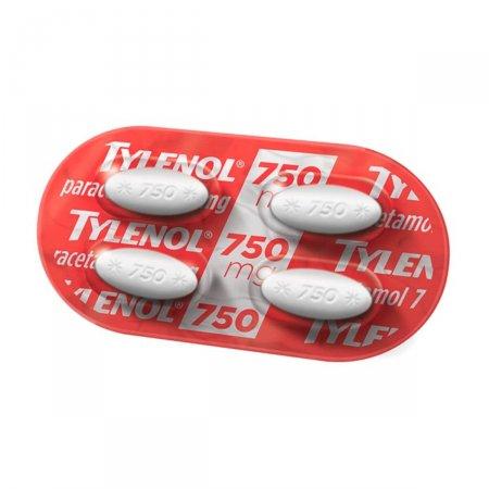 Tylenol 750mg com 4 Comprimidos |