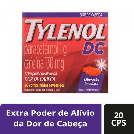Tylenol DC 1g + 130mg com 20 comprimidos