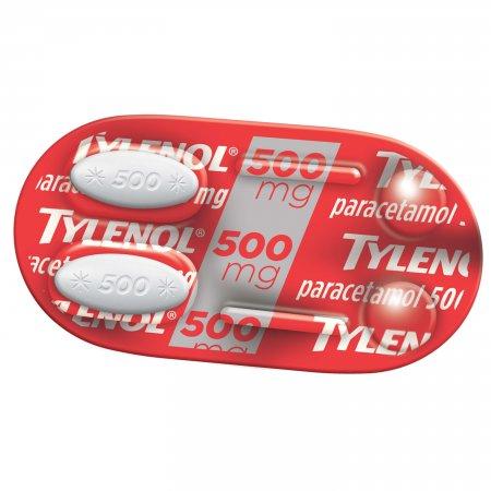 Tylenol Extra Poder de Alívio 500mg 2 Comprimidos