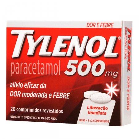 Tylenol Extra Poder de Alívio 500mg 20 Comprimidos