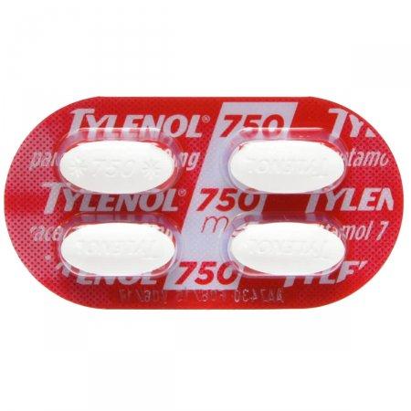 Tylenol 750mg 4 Comprimidos
