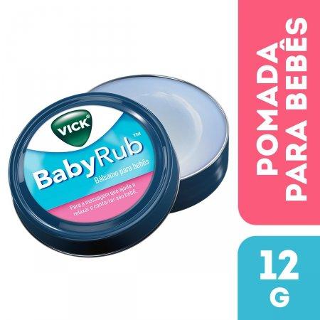 Pomada BabyRub Vick Para Bebês com 12g