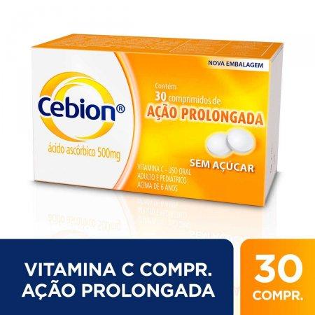 Vitamina C Cebion 500mg com 30 Comprimidos de Ação Prolongada