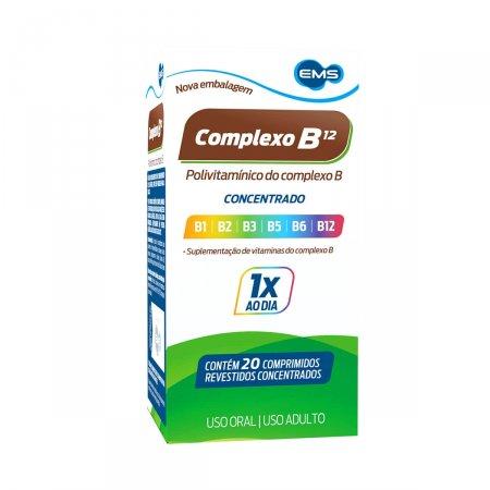 Suplemento Vitamínico Complexo B12 com 20 comprimidos