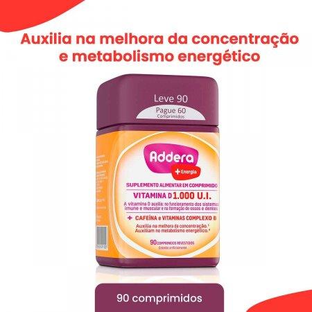Vitamina D Addera +Energia 1.000UI com 90 Comprimidos   Foto 2