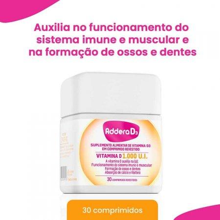 Vitamina D Addera D3 1.000UI com 30 Comprimidos | Foto 2