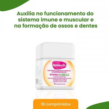 Vitamina D Addera D3 2.000UI com 30 Comprimidos    Foto 2