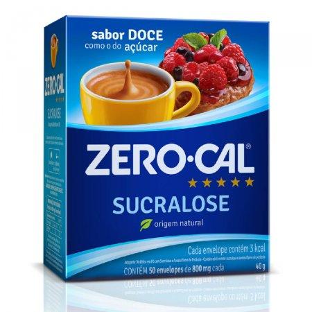 Adoçante Zerocal Sucralose com 50 Envelopes de 0,8g cada