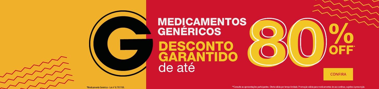 Genéricos - 80% OFF