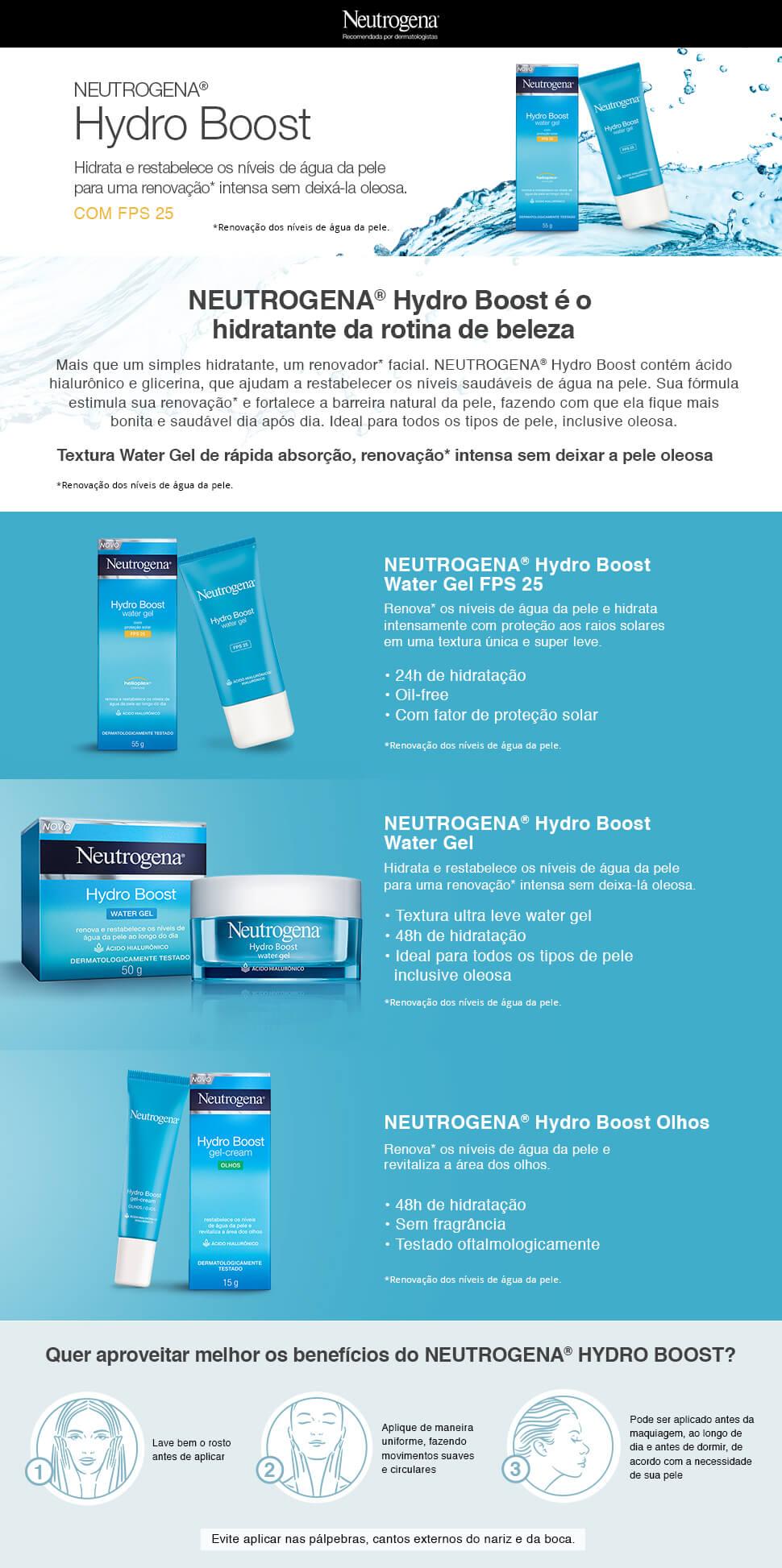 Lamina Neutrogena Hydro Boost Water Gel