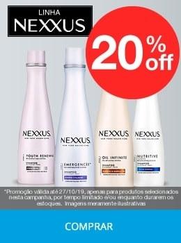 Nexxus com até 20% OFF