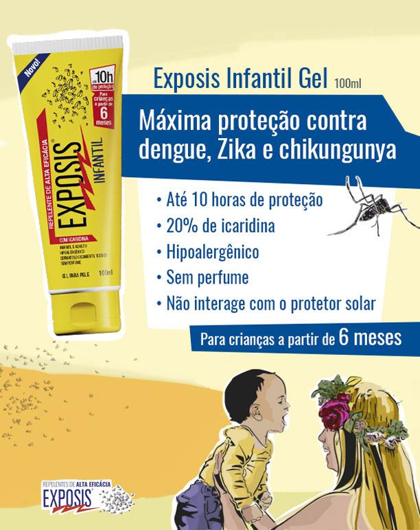 Explicativo Repelente Gel Exposis Infantil