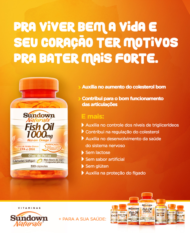 Explicativo ômega 3 sundown fish oil